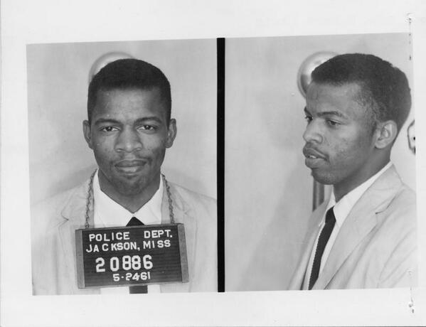 John Lewis' mugshot taken in 1961.