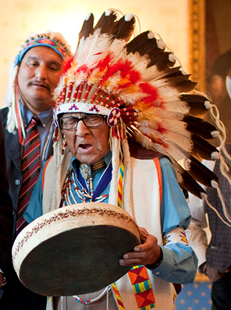 Joseph Medicine Crow at the White House