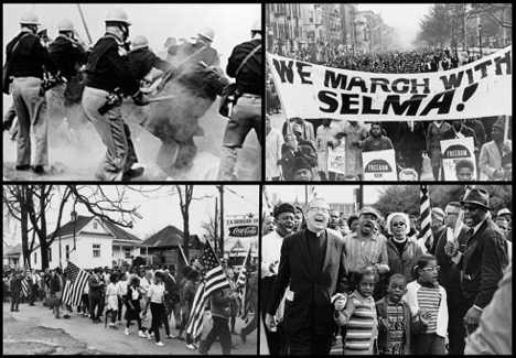 A collage of civil rights imagery.