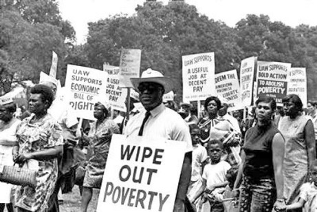 Martin Luther King Jr.'s 1968 Poor People's Campaign march.