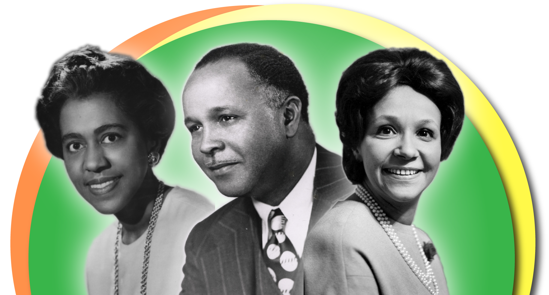Dr. Marie M. Daly, Dr. Percy Lavon Julian, and Dr. Jane C. Wright.