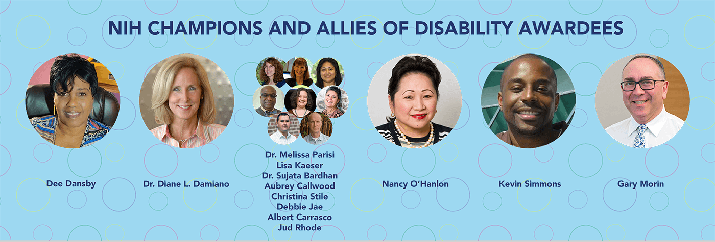 NIH Champions and Allies of Disability Awardees