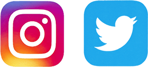 Instagram and Twitter Logos