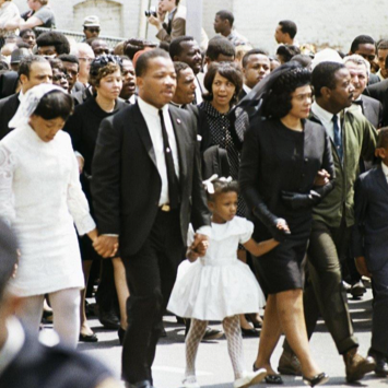Family of Dr. King at his funeral procession.