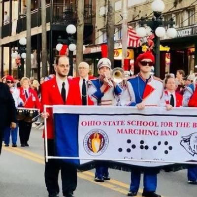 The Ohio State School for the Blind's Marching Band performed at the Outback Bowl and parade on New Year's Day.