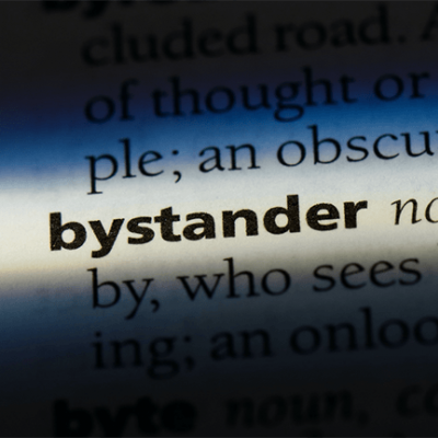 Definition of bystander noun highlighted.