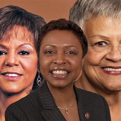 U.S. Representatives Bonnie Watson Coleman (D-NJ), Yvette D. Clarke (D-NY), and Robin Kelly (D-IL)