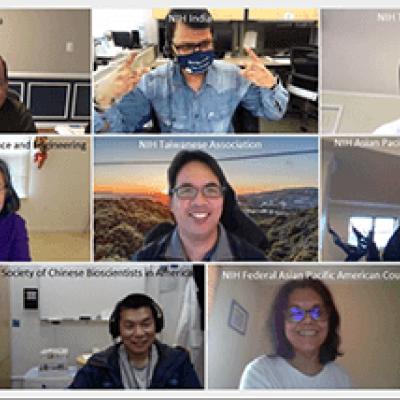 Screenshot of 14 staff on the virtual FAN kick-off meeting